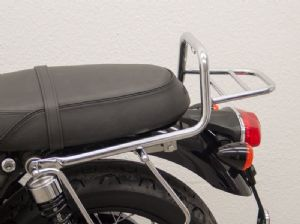 Triumph Bonneville T100 Fehling Luggage Grab Rail. Chrome Plated or Black (70G) 2017on.